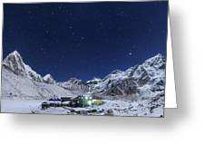 The Big Dipper Rise Above The Himalayas Greeting Card