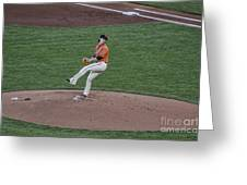 The Big Pitcher Greeting Card