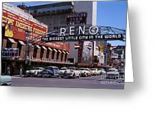Reno The Biggest Little City In The World 1940s Greeting Card