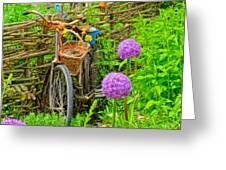 The Bike In The Garden Greeting Card