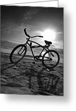 The Bike Greeting Card by Peter Tellone