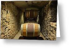 The Biltmore Estate Wine Barrels Greeting Card