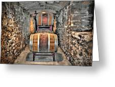 The Biltmore Estate Wine Barrels Greeting Card