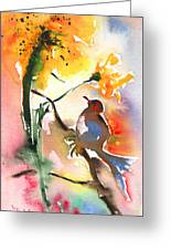 The Bird And The Flower 01 Greeting Card