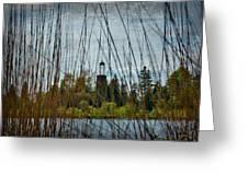 The Birdcage Lighthouse Of Baileys Harbor Paint  Greeting Card