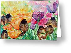 The Birds Of Spring Shower Blessings On You Greeting Card