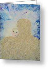 The Birth Of New Universal Love Named Tao  Greeting Card by Judy M Watts-Rohanna