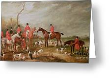The Birton Hunt Greeting Card by John E Ferneley