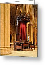 The Bishops Chair II Greeting Card by Dick Wood