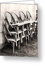 The Bistro Has Closed Greeting Card by Olivier Le Queinec