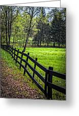 The Black Fence Greeting Card