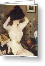 The Black Hat Greeting Card by Frank Benson