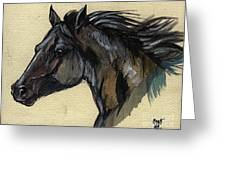 The Black Horse Greeting Card