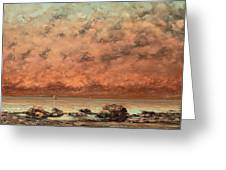 The Black Rocks At Trouville Greeting Card