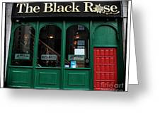 The Black Rose Of Boston Greeting Card