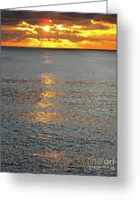 The Black Sea In A Swath Of Gold Greeting Card