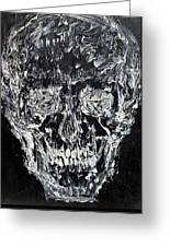 The Black Skull - Oil Portrait Greeting Card