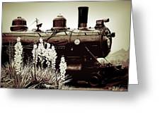 The Black Steam Engine Greeting Card