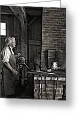 The Blacksmith 2 Monochrome Greeting Card