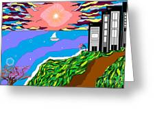 The Bliss Resort Greeting Card