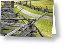 The Bloody Lane At Antietam Greeting Card
