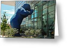 The Blue Bear  Greeting Card