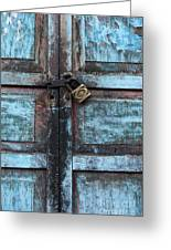 The Blue Door 2 Greeting Card