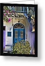 The Blue Door-santorini Greeting Card