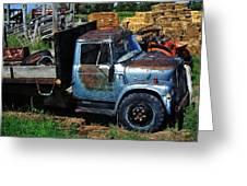 The Blue Farm Truck Greeting Card