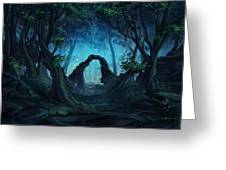 The Blue Forest Greeting Card by Cassiopeia Art