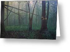 The Blue-green Forest Greeting Card
