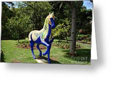 The Blue Horse Greeting Card