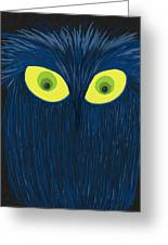 The Blue Owl Greeting Card