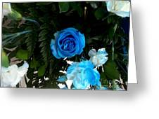 The Blue Pair Greeting Card