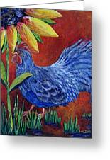 The Blue Rooster Greeting Card