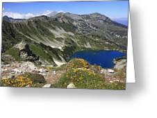 The Blue Vasilashko Lake Pirin National Park Bulgaria  Greeting Card