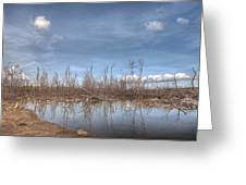 The Blue Water Desert Greeting Card