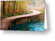The Boardwalk Greeting Card by Boon Mee