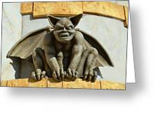 The Boardwalk Of Santa Cruz Gargoyles Greeting Card