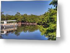 The Boat And The River Greeting Card