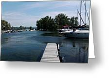 The Boat Dock  Greeting Card