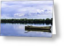 The Boat In Kerkini. Greeting Card by Slavica Koceva