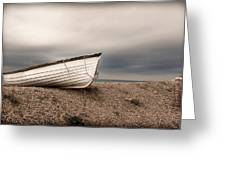 The Boat On Shore Greeting Card