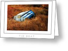 The Boat Poster Greeting Card