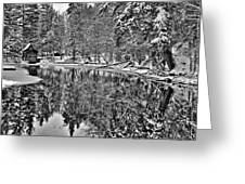 The Boathouse In Old Forge Greeting Card