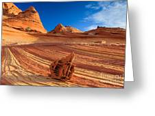 The Bone Yard In The North Coyote Buttes Greeting Card