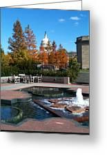 The Botanic Garden Fountain Greeting Card