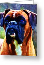 The Boxer - Painterly Greeting Card