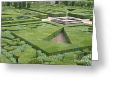 The Boxwood Garden At Chateau Villandry Greeting Card