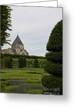 The Boxwood Garden - Villandry Greeting Card